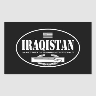 CIB de Iraqistan Pegatina Rectangular