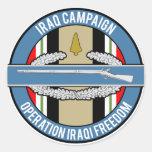 CIB de la campaña de Iraq Etiquetas Redondas