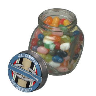 CIB de la campaña de Iraq Frascos De Cristal Jelly Belly
