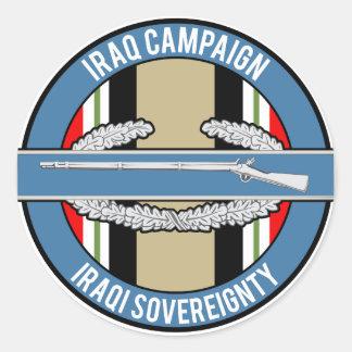 CIB de la campaña de Iraq Pegatina Redonda