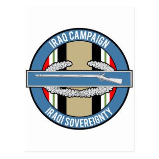 CIB de la campaña de Iraq Postales