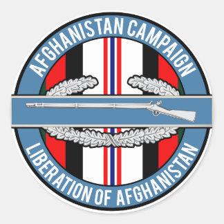 CIB de la liberación de Afganistán Pegatina Redonda