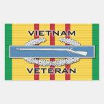 CIB del veterinario de Vietnam Rectangular Pegatinas
