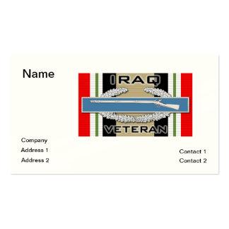 CIB Iraq Veteran Business Card