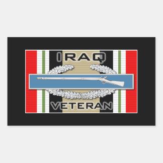 CIB Iraq Veteran Rectangular Sticker