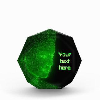 Ciberespacio que brilla intensamente Cyberwoman -