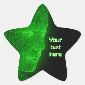 Ciberespacio que brilla intensamente Cyberwoman - Pegatina En Forma De Estrella
