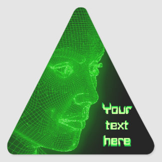 Ciberespacio que brilla intensamente Cyberwoman - Pegatina Triangular
