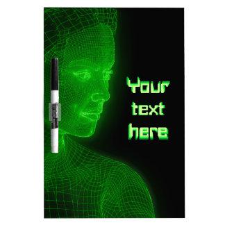 Ciberespacio que brilla intensamente Cyberwoman - Pizarras