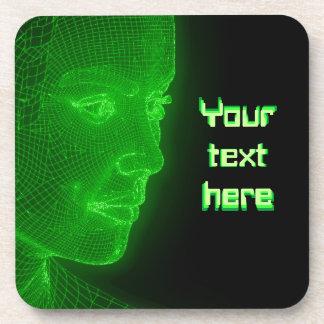 Ciberespacio que brilla intensamente Cyberwoman -  Posavaso