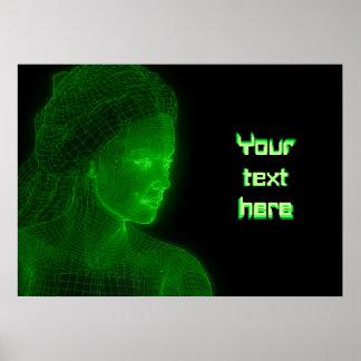 Ciberespacio que brilla intensamente Cyberwoman -  Póster