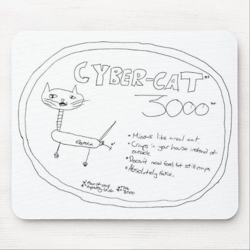 Cibernético-Gato 3000 - Mousepad