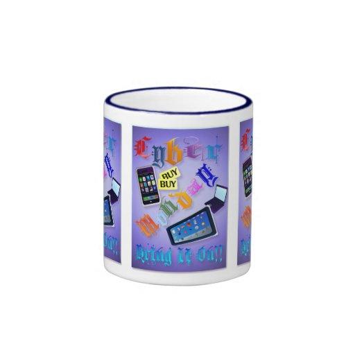 ¡Cibernético Lunes-Tráigalo encendido! (2) tazas