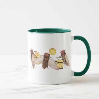Cicada Band with Gong, Trumpet and Drum Mug