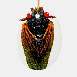 Cicada Ceramic Ornament
