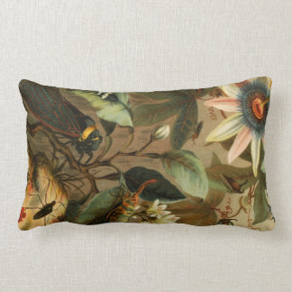 Cicada Lantern Bug Insect Pillow Vintage Wild Art