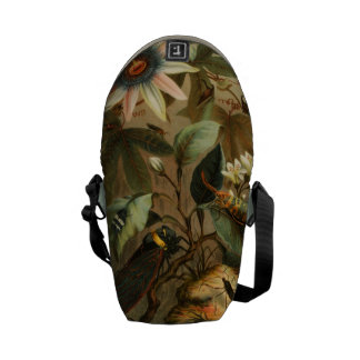 Cicada Lantern Bugs Insects Bag Vintage Nature Art Messenger Bags
