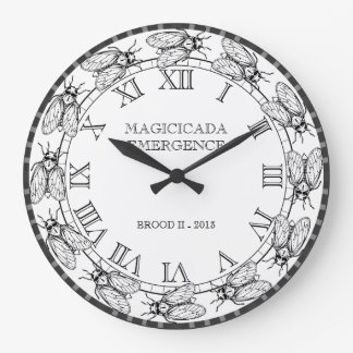 Cicada - Magicicada - Emergence of Amazing Insect Large Clock
