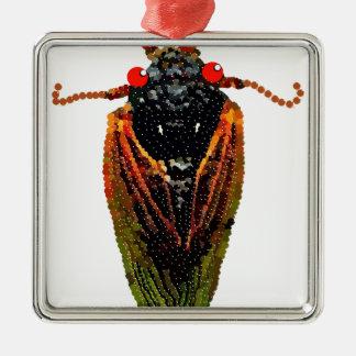 Cicada Metal Ornament