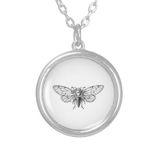 Cicada Round Pendant Necklace