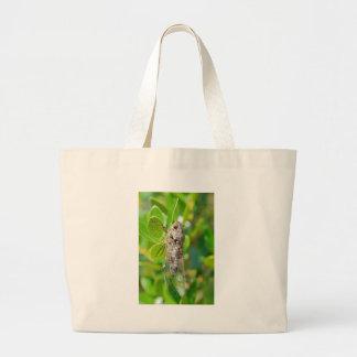 Cicada on leaf large tote bag