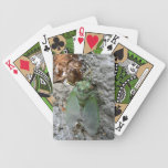 Cicada on the Wall Bicycle Poker Cards