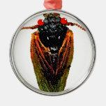 Cicada Round Metal Christmas Ornament
