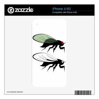 Cicada vector iPhone 4S skins