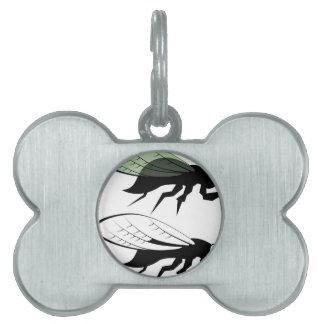 Cicada vector pet name tag