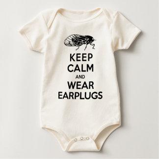CICADAS are Here! Keep Calm and Wear Earplugs Baby Bodysuit