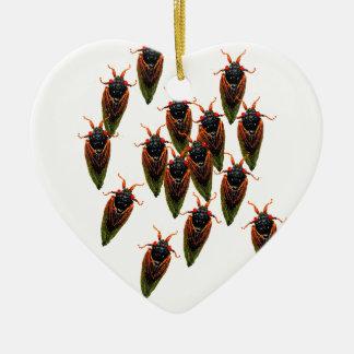 cicadas ceramic ornament
