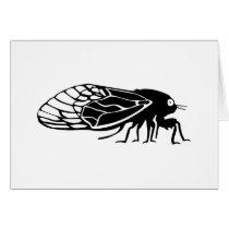 Cicadas - Cigales - Magicicadas - Summer Buzz Card