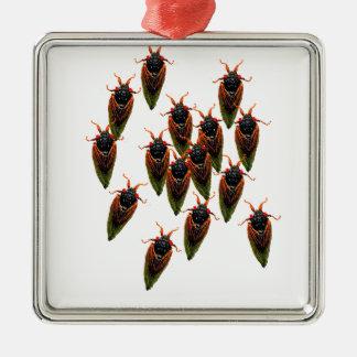 cicadas metal ornament