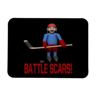 Cicatrices de la batalla imanes de vinilo