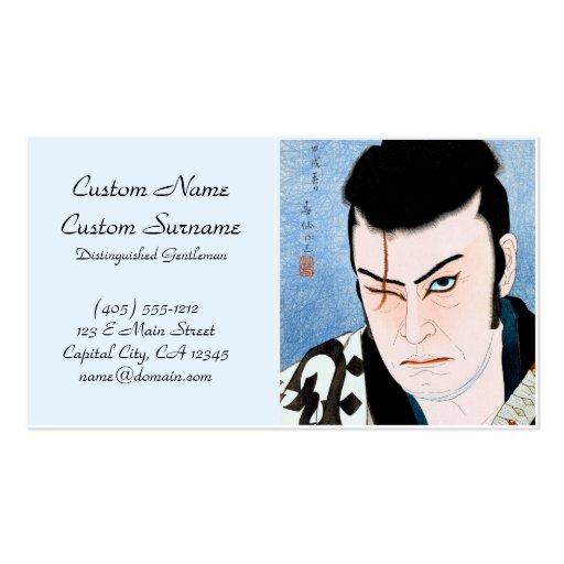 Cicatriz oriental fresca del samurai de Natori Kab Tarjetas De Visita