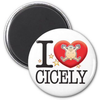 Cicely Love Man 2 Inch Round Magnet