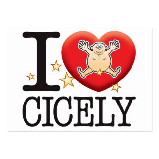 Cicely Love Man Large Business Card