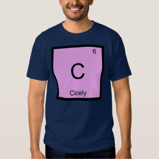 Cicely Name Chemistry Element Periodic Table Shirt