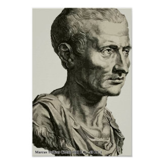 Cicero bust style poster