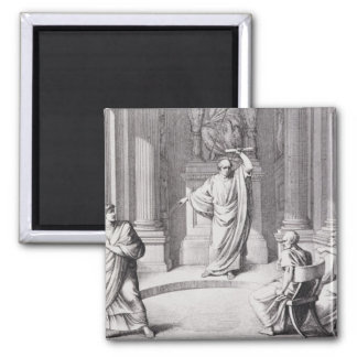 Cicero Denouncing Catiline 2 Inch Square Magnet