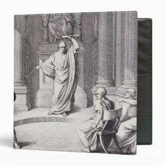Cicero Denouncing Catiline 3 Ring Binder