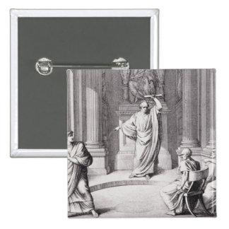 Cicero Denouncing Catiline Button