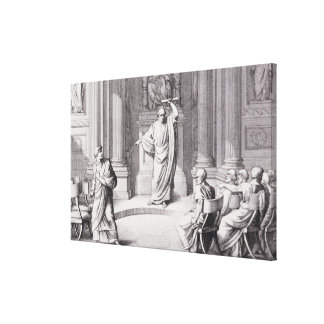 Cicero Denouncing Catiline Canvas Print