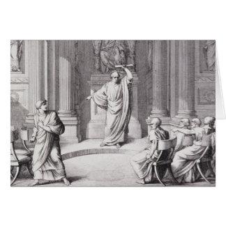 Cicero Denouncing Catiline Card