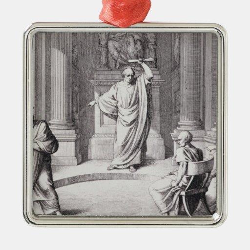 Cicero Denouncing Catiline Christmas Ornament