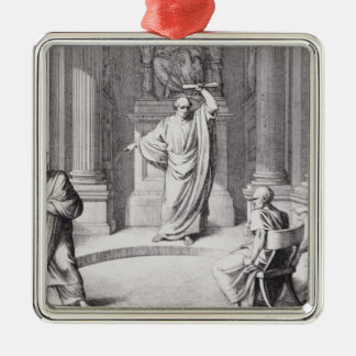 Cicero Denouncing Catiline Metal Ornament