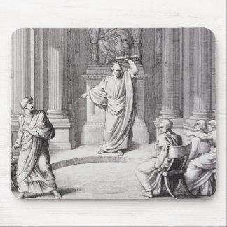 Cicero Denouncing Catiline Mouse Pad