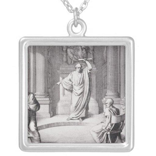 Cicero Denouncing Catiline Necklace