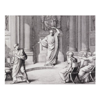 Cicero Denouncing Catiline Postcard