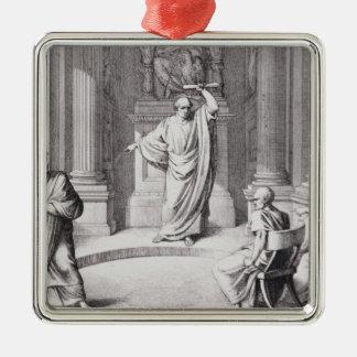 Cicero Denouncing Catiline Square Metal Christmas Ornament